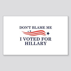 I Voted For Hillary Sticker (Rectangle)