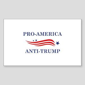 Pro-America Anti-Trump Sticker (Rectangle)