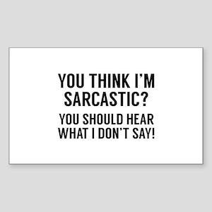 Sarcastic Sticker (Rectangle)