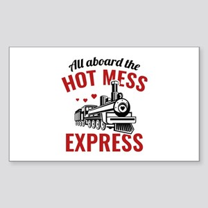 Hot Mess Express Sticker (Rectangle)