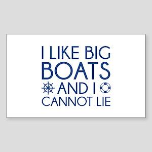 I Like Big Boats Sticker (Rectangle)