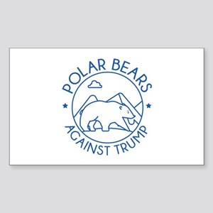 Polar Bears Against Trump Sticker (Rectangle)