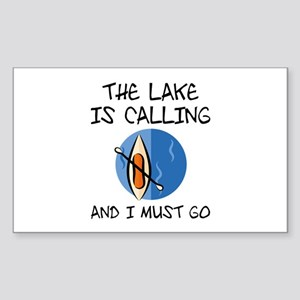 The Lake Is Calling Sticker (Rectangle)
