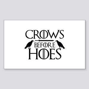 Crows Before Hoes Sticker (Rectangle)