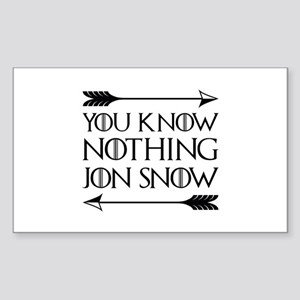 You Know Nothing Sticker (Rectangle)