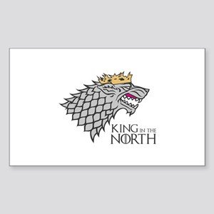 King In The North Sticker (Rectangle)