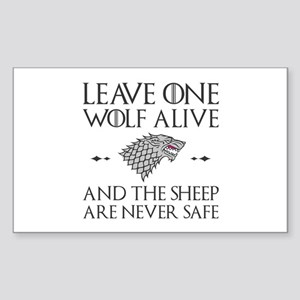 Leave One Wolf Alive Sticker (Rectangle)