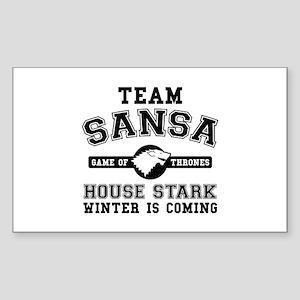 Team Sansa Stark Sticker (Rectangle)