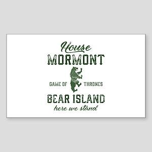 House Mormont Sticker (Rectangle)