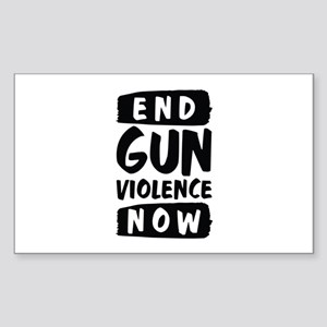 End Gun Violence Now Sticker (Rectangle)