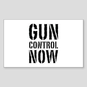Gun Control Now Sticker (Rectangle)