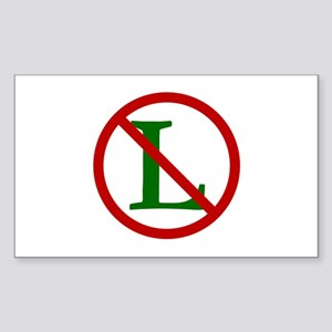 NOEL (NO L Sign) Rectangle Sticker