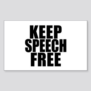 Keep Speech Free Rectangle Sticker