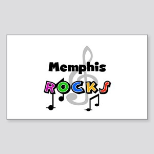 Memphis Rocks Rectangle Sticker