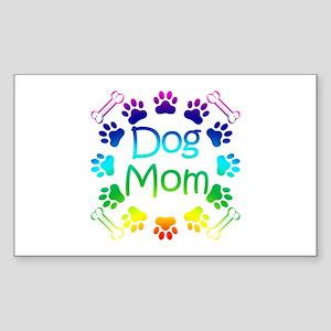 """Dog Mom"" Sticker (Rectangle)"