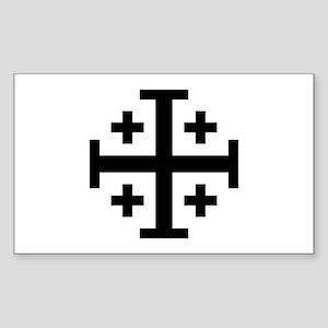 Jerusalem cross Sticker (Rectangle)