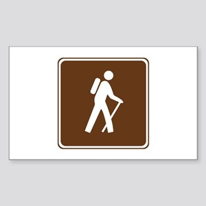 Hiking Trail Sign Sticker (Rectangle)