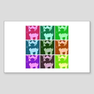 Wheaton Terrier Pop Art Sticker (Rectangle)
