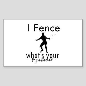 I Fence Sticker (Rectangle)