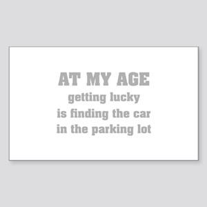 At My Age Sticker (Rectangle)