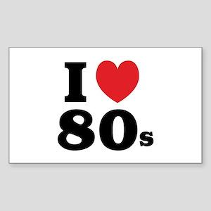 I Heart 80s Sticker (Rectangle)