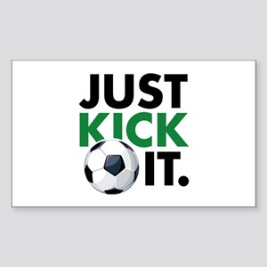 JUST KICK IT. Sticker (Rectangle)