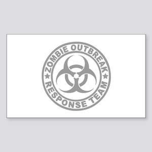 Zombie Outbreak Response Team Sticker (Rectangle)