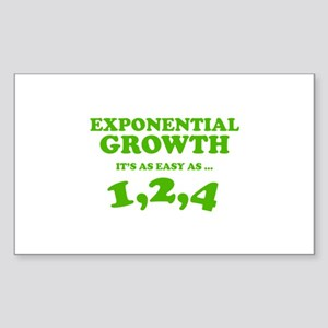 Exponential Growth Sticker (Rectangle)