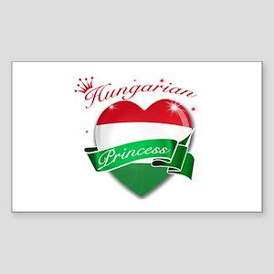 Hungarian Princess Sticker (Rectangle)