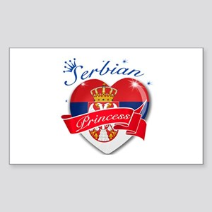 Serbian Princess Sticker (Rectangle)