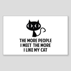 People I Meet Sticker (Rectangle)