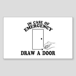 Draw A Door Beetlejuice Sticker (Rectangle)