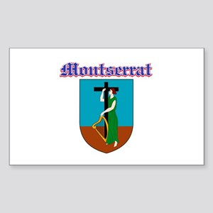 Montserrat designs Sticker (Rectangle)
