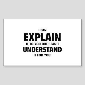 Explain Understand Sticker (Rectangle)