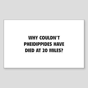Pheidippides Miles Sticker (Rectangle)
