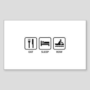 Eat Sleep Row Sticker (Rectangle)