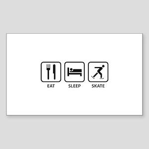 Eat Sleep Skate Sticker (Rectangle)