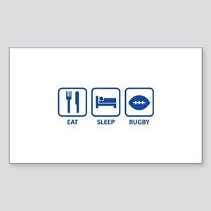 Eat Sleep Rugby Sticker (Rectangle)