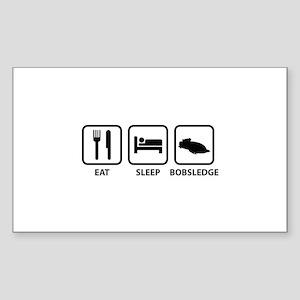 Eat Sleep Bobsledge Sticker (Rectangle)