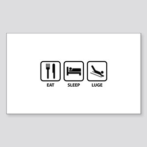 Eat Sleep Luge Sticker (Rectangle)