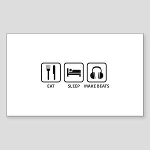 Eat Sleep Make Beats Sticker (Rectangle)