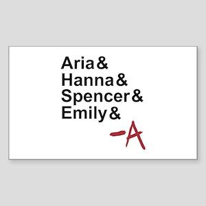 Aria & Hanna & Spencer & Emily & A Sticker (Rectan