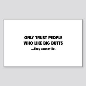 Only Trust People Sticker (Rectangle)