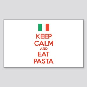 Keep Calm And Eat Pasta Sticker (Rectangle)