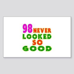 98 Birthday Designs Sticker (Rectangle)