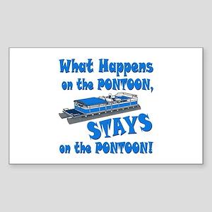 On The Pontoon Sticker