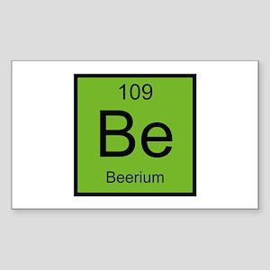 Be Beerium Element Sticker (Rectangle)