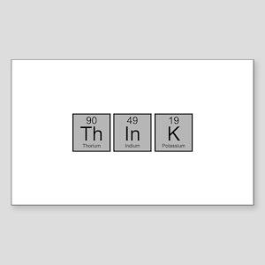 Think Sticker (Rectangle)
