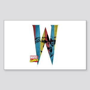 Wolverine W Sticker (Rectangle)
