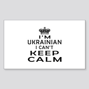 I Am Ukrainian I Can Not Keep Calm Sticker (Rectan